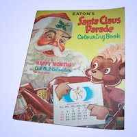 Vintage Oversize Colouring Book Eatons Santa Claus Parade Featuring Punkinhead
