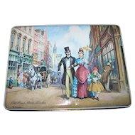 Vintage Tin Litho Advertising Box Foxs Biscuits Old Bond St. London Signed K Forrester
