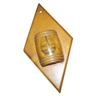 Mauchline Ware Hanging Match Holder Travel Souvenir Bunker Hill Monument  Vesta