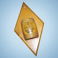 Mauchline Ware Hanging Match Holder Travel Souvenir Bunker Hill Monument  Vesta