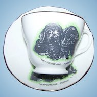NewFoundLand Puppy Dogs  Teacup Saucer Set Liverpool Road  Pottery England
