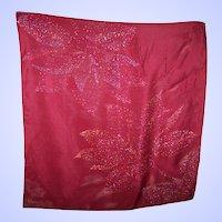 Vintage Paint Splatter Pattern  Designer Signed VERA Small Fashion Scarf