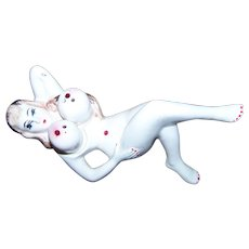 Risque Novelty Nude Posing  Lady Big Breast Salt and Pepper Shakers