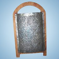 Primitive Washboard Style Wood And Metal Grater Great For Display Home Decor Accent