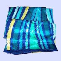 Jones New York Long Rectangular Silk Geometric Ink Splatter Themed Ladies Fashion Silk Scarf