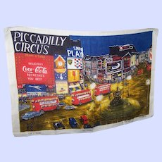 Picadilly Circus Advertising Pure  Linen Made in Ireland Lamont Registered Tea Towel