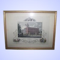 Historical Framed Wall Art Print of City Hall New York Home Decor Accent