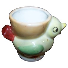 Sweet Hand Painted Novelty  Ceramic Figural Chick Egg Cup Eggcup Japan