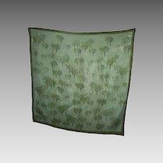 Designer Signed Vera Scarves by Vera Tree Themed Vinal Silk  Small Scarf