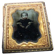 Darling Vintage Daguerreotype Photograph featuring A Little Child Tinted Cheeks Partial Case