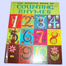 """Charming Vintage Hard Cover Children's Book The Wonder Book Of """" Counting Rhymes """""""