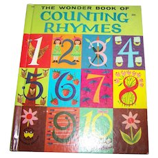 "Charming Vintage Hard Cover Children's Book The Wonder Book Of "" Counting Rhymes """