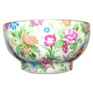 Lovely Royal Winton  Made in England Huntsmere Shape KEW Chintz all over Floral Pattern Open Sugar Bowl