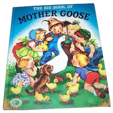 Charming Over Size Children's Book The Big Book OF Mother GOOSE 1977 Nursery Treasure Books