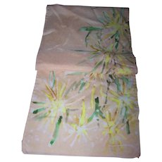 Lovely Floral Print Rectangular Silk Scarf  Wearable ART
