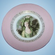 Beautiful Portrait Cabinet Plate Signed Gainsborough by Joh Peters Amsterdam Holland