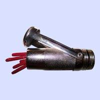 A Vintage Metal Ware Match Stick Mechanical Holder Vesta Smoking Accessory Hong Kong