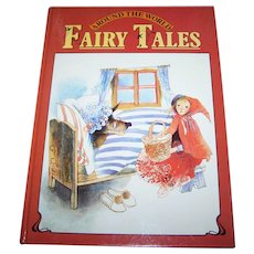 Over Size Hard Cover Childrens Book Around The World Fairy Tales 1981 Charming Illustrations