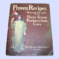 Sweet Vintage Soft Cover Booklet Advertising Cookbook Proven Recipes Corn Products Refining Co New York