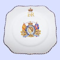 Vintage Collectible Souvenir Coronation Plate Queen Elizabeth II June 2nd 1953 Official Design Johnson Bros England