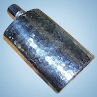 Clean Gently Used Hammered Chrome  Tin Lined Flask Made in Western Germany