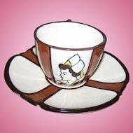 VTG Breakfast Cup & Saucer Set Polychrome Earthenware