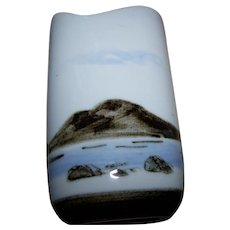 Vintage  Decorative HighBank Scenic Loch and Mountain Porcelain Vase Lochgilphead Scotland