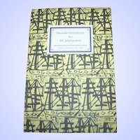 Small Vintage Hard Cover Book Deutsche Holzschnitte XX. Jahrhunderts Insel-Bucherei Nr. 606