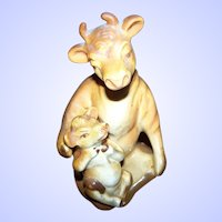 Vintage Ceramic Arts Studio Madison, Elsie & Beauregard Cow Salt Pepper Shakers