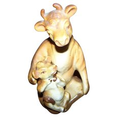 Sweet Momma Cow and Baby Ceramic Salt & Pepper Shakers