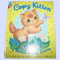 Children's Hard Cover Book Illustrated Rand McNally Elf Book Copy-Kitten