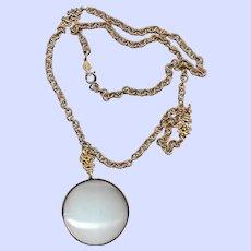 Vintage Accessocraft N.Y.C. Designer Magnifying Glass Necklace