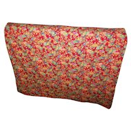 A Lovely Bright and Cheerful  Vintage  Fan Themed Quilt Blanket  Home Decor Accent
