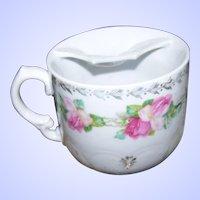Vintage Pink Rose Floral Themed Mustache  Moustache Cup Mug