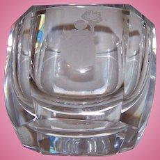 Vintage Crystal Posy Vase Orrefors 2457/111   3 Inch Size Etched Girl Bouquet