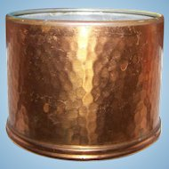 Small 3 1/4 inch Hammered Copper Pot Container Mold