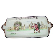 Royal Doulton England Old English Games The Diversions of Uncle Toby Tray