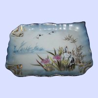 Vintage Porcelain Pin Tray featuring Birds in Flight & Marsh DIANA  by G Y