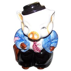 Sweet Hand Painted Ceramic Piggy Bank Break Open  Coin Style