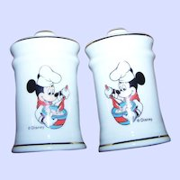 Disney Salt and Pepper  Spice Set Mickey Mouse Character Vintage Kitchen Home Decor