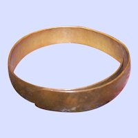 Vintage Hand Made Pure Copper  Metal Bangle Bracelet Adjstable Squeeze Style