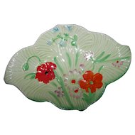 Pretty Hand Painted  Art Deco Era Beswick  Pin Trinket Dish Floral Themed 884-2 Made in England
