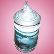 Small Travel Souvenir  Beer Stein Pottery Memento of Niagara Falls , Ontario , Canada