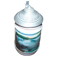 Small Travel Souvenir  Beer Stein Pottery Memento of Niagara Falls , Ontario , Canada