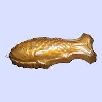 VTG Copper Metal Fish Jello Form Mold Farmhouse Style Kitchen Decor