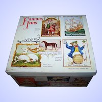 VTG The Lord's of Mischief Advertising Elkes Cookie Biscuit Tin Litho Box