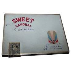 Advertising Tin Litho Empty Sweet Caporal Cigarette Tin Box Kinney Bros Imperial Tobacco