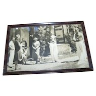 Framed Vintage Group Photograph / Print Home Decor Wall Art Accent Arlington Art Shop Saskatoon