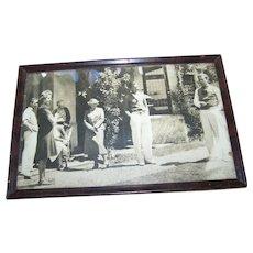 Framed Vintage Group Photograph / Print Home Decor Wall Art Accent Arlington Art Shop Saskatoon