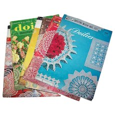 Lot of 6 Vintage Doilies Booklets by Lily and Priscilia Tatting Crochet Instructions
